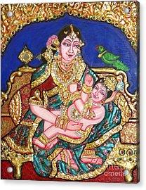 Yashoda Holding Gopala Acrylic Print by Jayashree