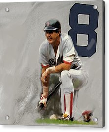 Yaz  Carl Yastrzemski Acrylic Print by Iconic Images Art Gallery David Pucciarelli