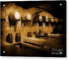 Ye Old Wine Cellar In Tuscany Acrylic Print by John Malone