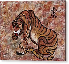Year Of The Tiger Acrylic Print by Darice Machel McGuire