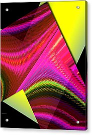 Yellow And Pink Designs Acrylic Print by Mario Perez