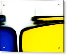 Yellow Blue Acrylic Print by Bob Orsillo
