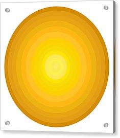 Yellow Circles Acrylic Print by Frank Tschakert