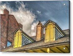 Yellow Dormers Acrylic Print by Brenda Bryant