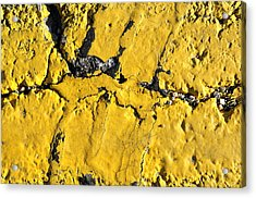 Yellow Line Abstract Acrylic Print by Luke Moore
