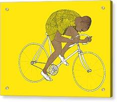 Yellow Major Taylor Acrylic Print by Eliza Southwood