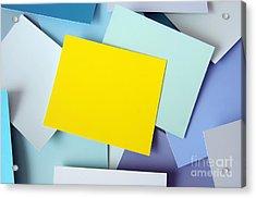 Yellow Memo Acrylic Print by Carlos Caetano
