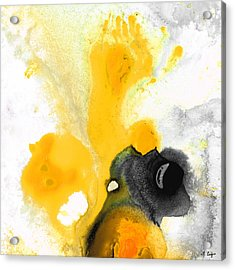 Yellow Orange Abstract Art - The Dreamer - By Sharon Cummings Acrylic Print by Sharon Cummings