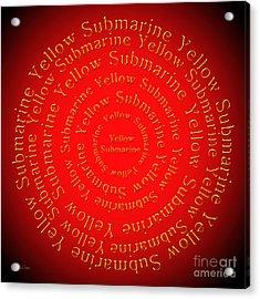 Yellow Submarine 1 Acrylic Print by Andee Design