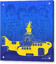 Yellow Submarine Acrylic Print by Andee Design