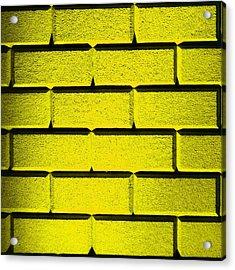 Yellow Wall Acrylic Print by Semmick Photo