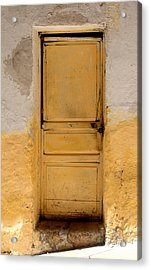 Yellow Wood Acrylic Print by Roberto Alamino