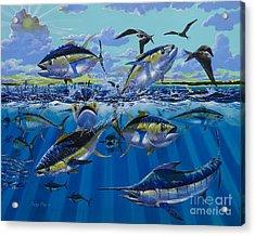 Yellowfin Run Off002 Acrylic Print by Carey Chen
