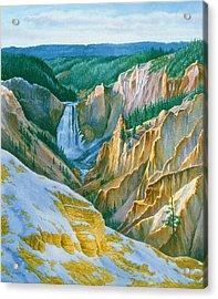 Yellowstone Grand Canyon - November Acrylic Print by Paul Krapf