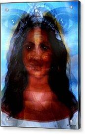 Yemaya -she Sees All Acrylic Print by Carmen Cordova