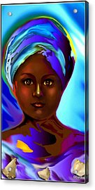 Yemaya -the Mother Goddess Acrylic Print by Carmen Cordova