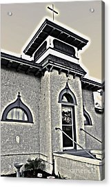 Yet Another Spooky Looking Church In Chino Acrylic Print by Gregory Dyer