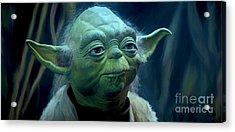 Yoda Acrylic Print by Paul Tagliamonte