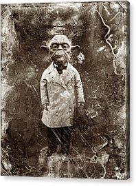 Yoda Star Wars Antique Photo Acrylic Print by Tony Rubino