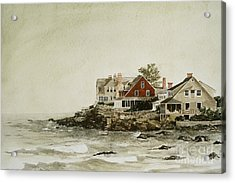 York Beach Acrylic Print by Monte Toon