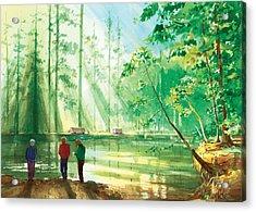 Yosemite Morning Acrylic Print by Ray Cole