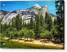 Yosemite Valley Along Yosemite River Beach Acrylic Print by Bob and Nadine Johnston