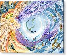 You Are The Sun I Am The Moon Acrylic Print by Sara Burrier