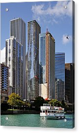 You Haven't Seen Chicago Until You've Been On The River Acrylic Print by Christine Till
