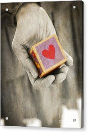 You Hold My Heart In Your Hand Acrylic Print by Edward Fielding