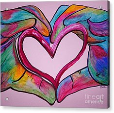You Hold My Heart In Your Hands Acrylic Print by Eloise Schneider