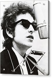 Young Bob Dylan Acrylic Print by Retro Images Archive