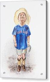 Young Cowboy  Acrylic Print by Irina Sztukowski