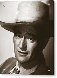 Young John Wayne Painting Traditional Acrylic Print by Tony Rubino