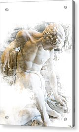 Young Man Acrylic Print by Evie Carrier