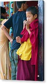 Young Tibetan Monk Acrylic Print by Dagmar Batyahav
