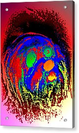 Young Troll Groving Up Wondering What's Going On  Acrylic Print by Hilde Widerberg