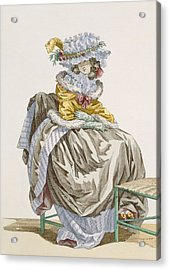Young Woman Dressed In Anglais Style Acrylic Print by Francois Louis Joseph Watteau