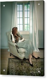 Young Woman In A Chair Acrylic Print by Jill Battaglia
