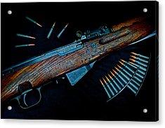 Yugoslavian Sks Rifle With Stripper Clips Acrylic Print by Geoffrey Coelho