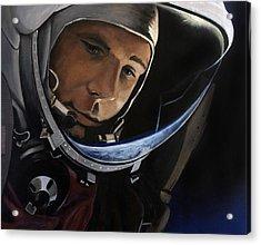 Yuri Alekseyevich Gagarin Acrylic Print by Simon Kregar