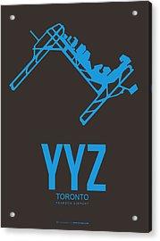 Yyz Toronto Airport Poster 2 Acrylic Print by Naxart Studio
