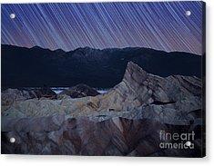 Zabriskie Point Star Trails Acrylic Print by Jane Rix