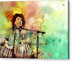 Zakir Hussain Acrylic Print by Catf