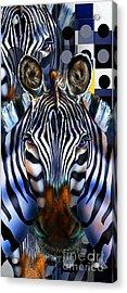 Zebra Dreams Acrylic Print by Reggie Duffie