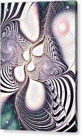 Zebra Phantasm Acrylic Print by Anastasiya Malakhova