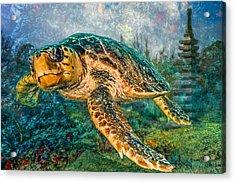 Zen Garden Acrylic Print by Debra and Dave Vanderlaan