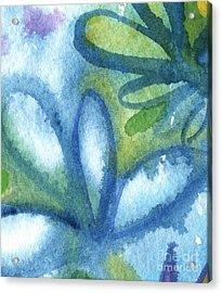 Zen Leaves Acrylic Print by Linda Woods