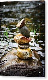 Zen River I Acrylic Print by Marco Oliveira