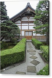Zen Walkway - Kyoto Japan Acrylic Print by Daniel Hagerman
