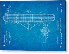 Zeppelin Navigable Balloon Patent Art 1899 Blueprint Acrylic Print by Ian Monk